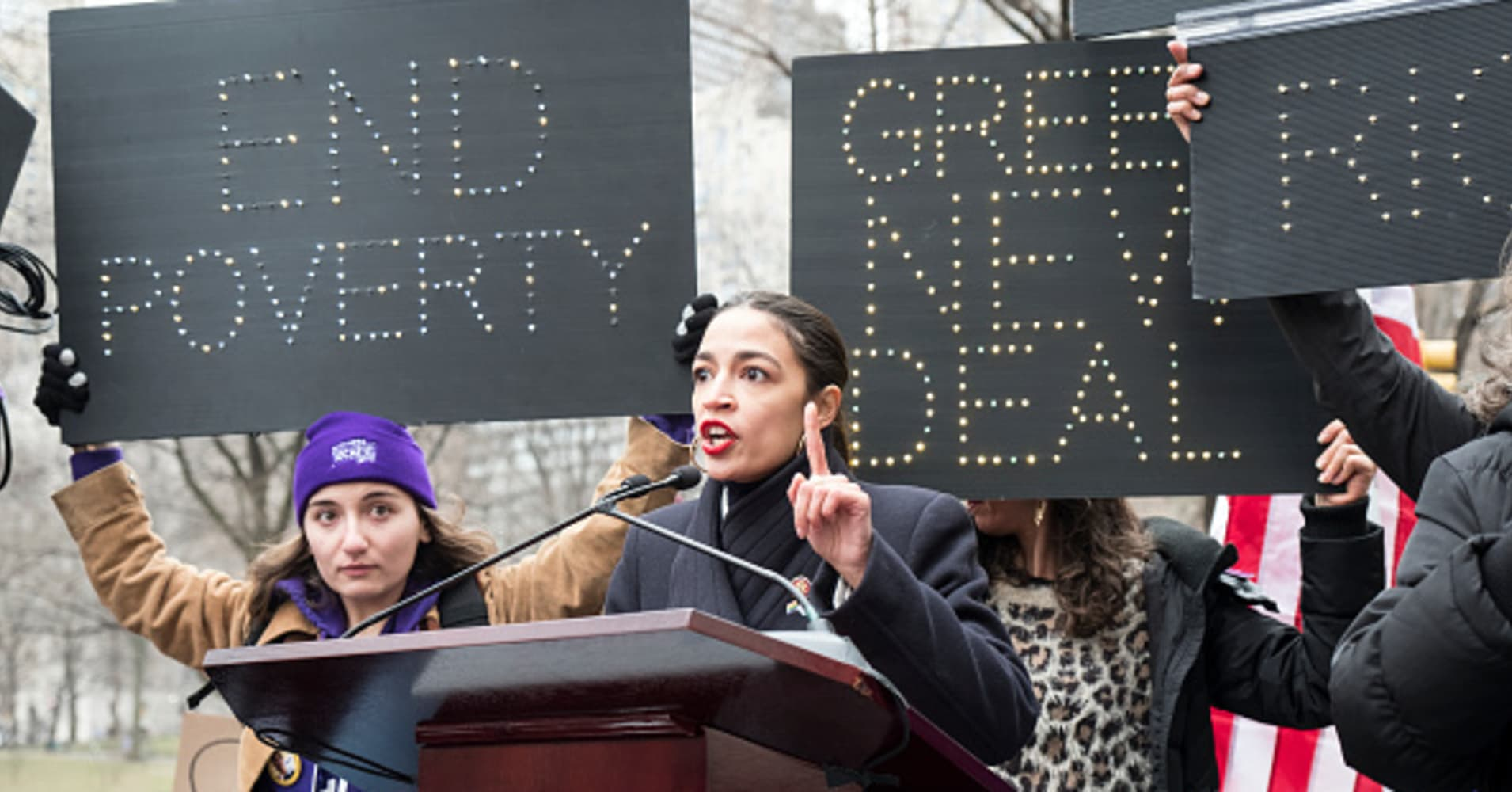 Ocasio-Cortez's Green New Deal is not going over well at one of the year's biggest energy gatherings