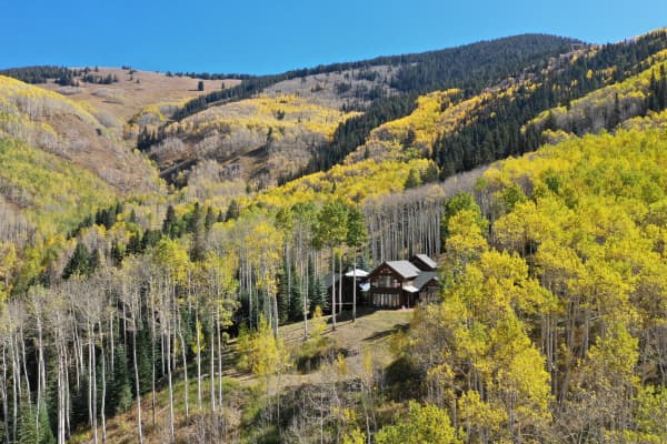 Melanie Griffith's secluded estate is nestled on the backside of Aspen Mountain.
