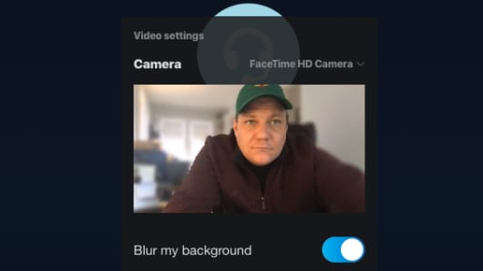 How to blur the background on a Skype call