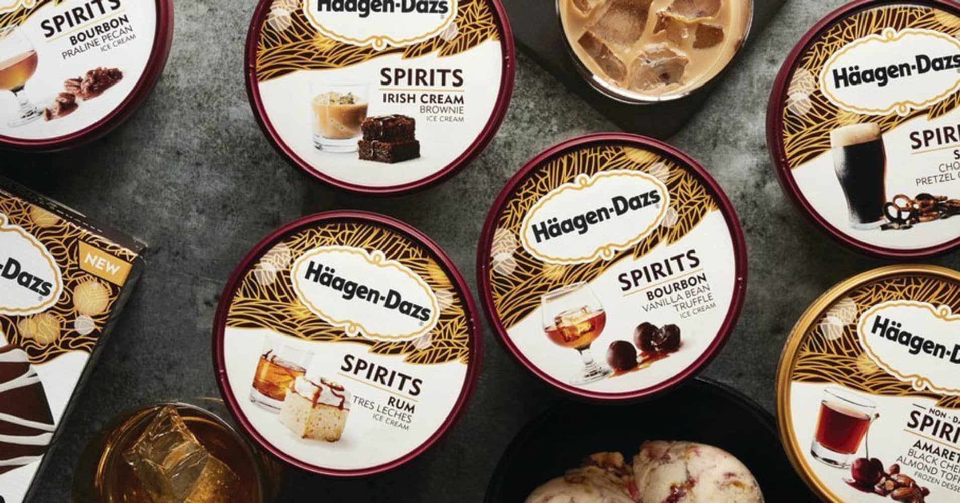 Haagen-Dazs announces new boozy ice cream line