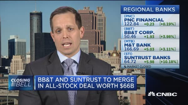 BB&T and SunTrust need to be competitive, but not on the same scale as Citi or JP Morgan, says Stephen Scouten