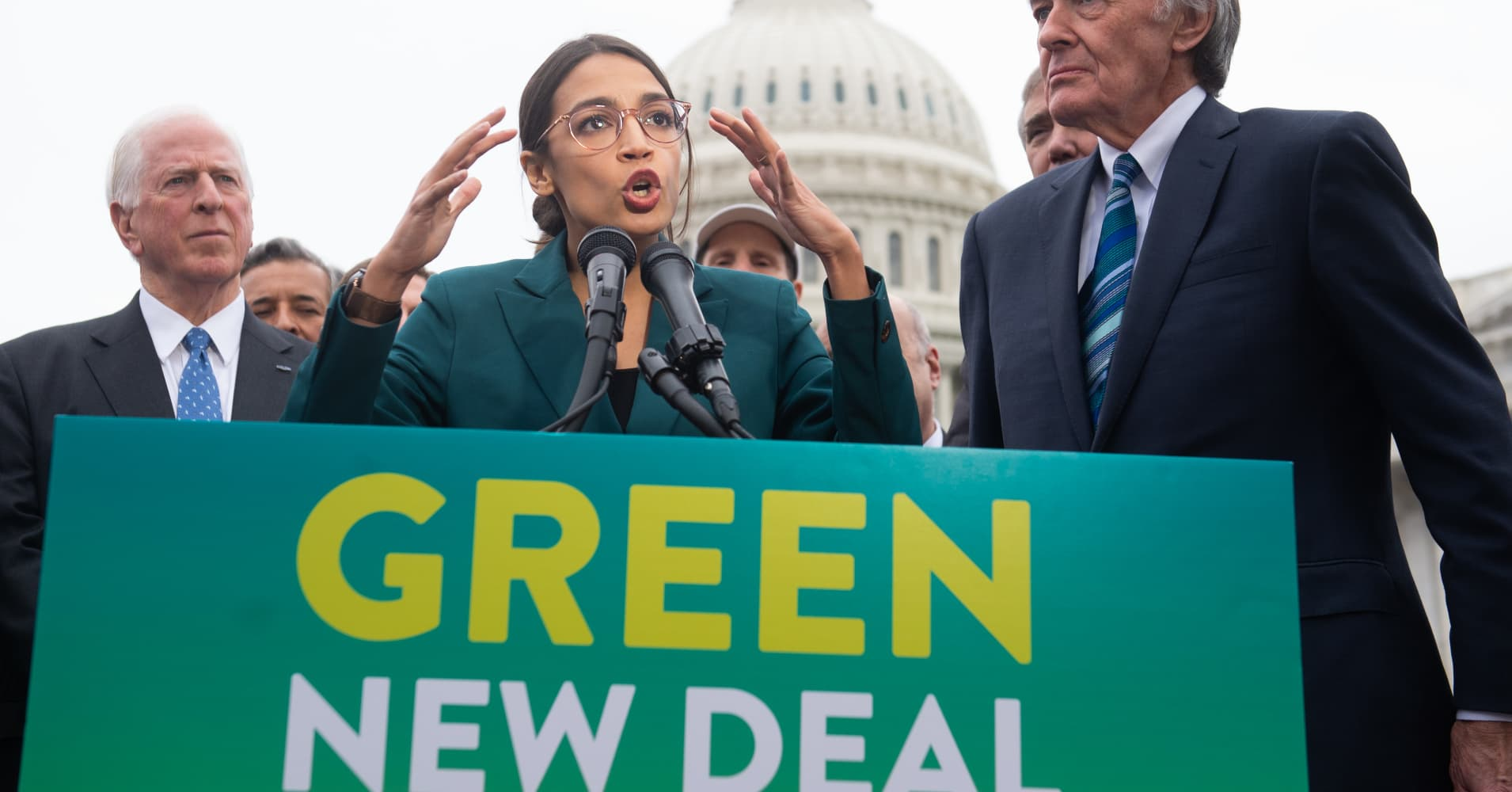 Alexandria Ocasio-Cortez's Green New Deal is the latest villain in Trump's 2020 campaign stump speech