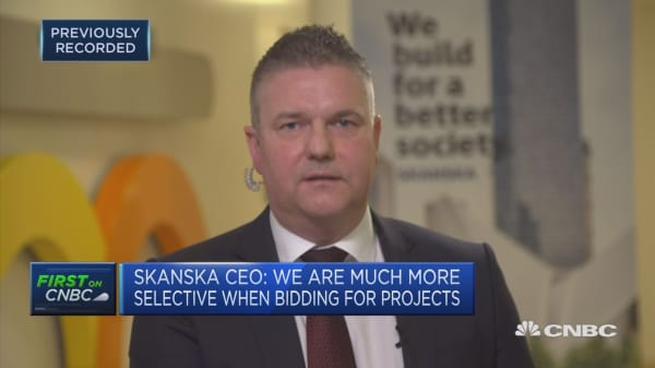 Hiring the right people a global challenge, Skanska CEO says
