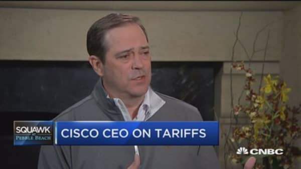 Cisco CEO Chuck Robbins: 25% tariffs can significantly impact our business