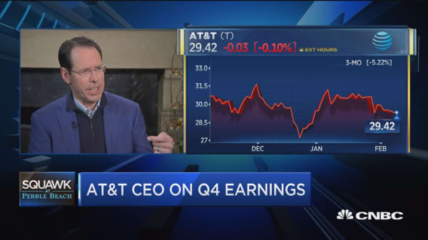 Watch CNBC's full interview with AT&T Chair and CEO Randall Stephenson at Pebble Beach