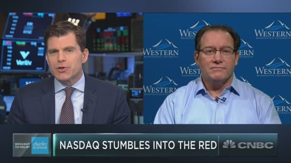 Nasdaq falls deeper into correction territory, but tech investor Paul Meeks says it's time to start buying