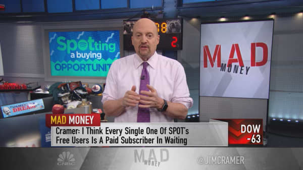 Cramer: Wake up and hear the music—Spotify is an 'incredible' buy