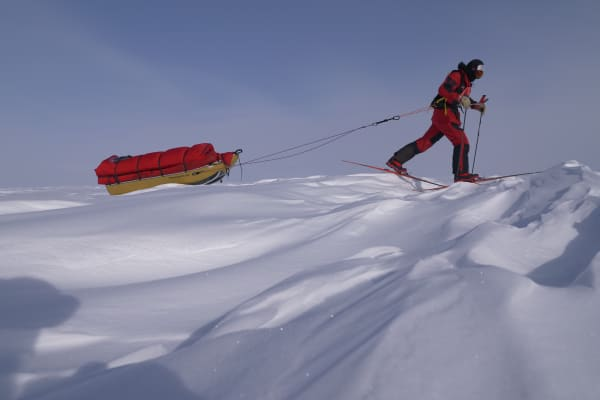 The team of four carried an additional 20 kilograms of renewable gear during their 600-mile expedition across the Antarctica.