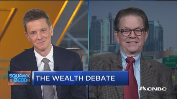 Watch economist Arthur Laffer and Facebook co-founder Chris Hughes debate the 'wealth tax'