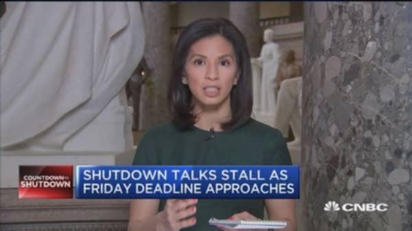 Shutdown talks stall as Friday deadline approaches