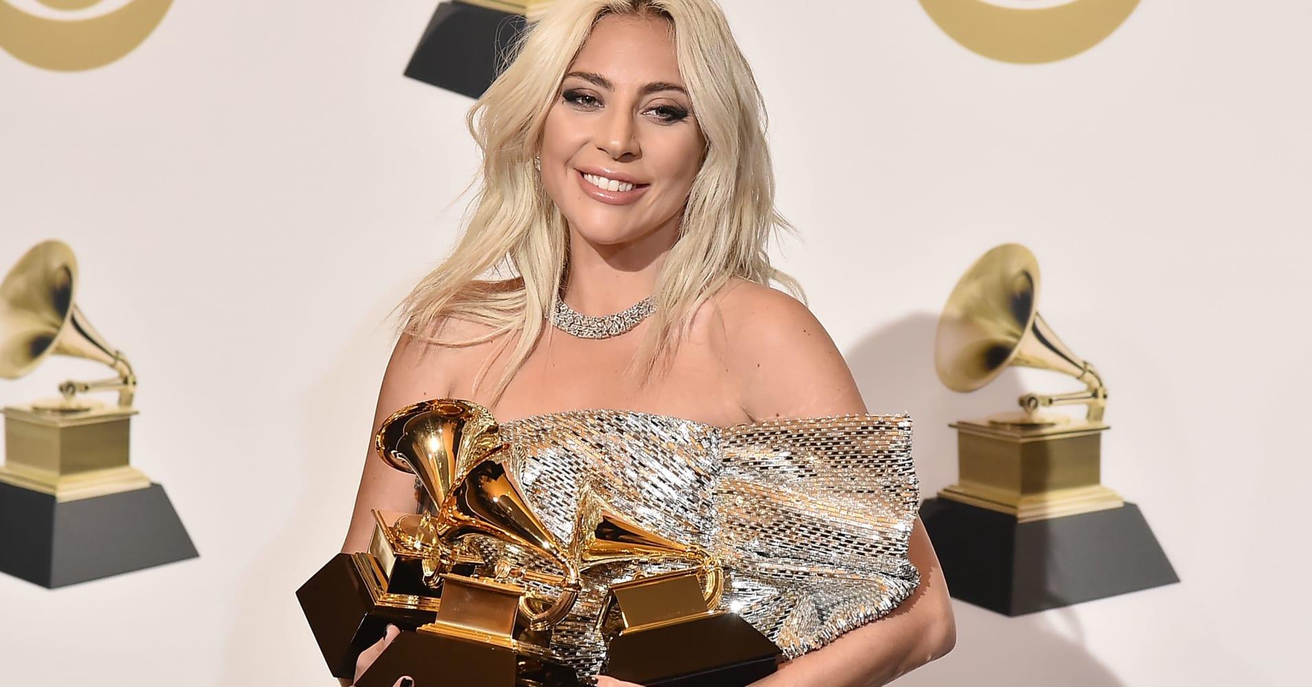 Lady Gaga won 3 awards at the 61st Annual Grammys