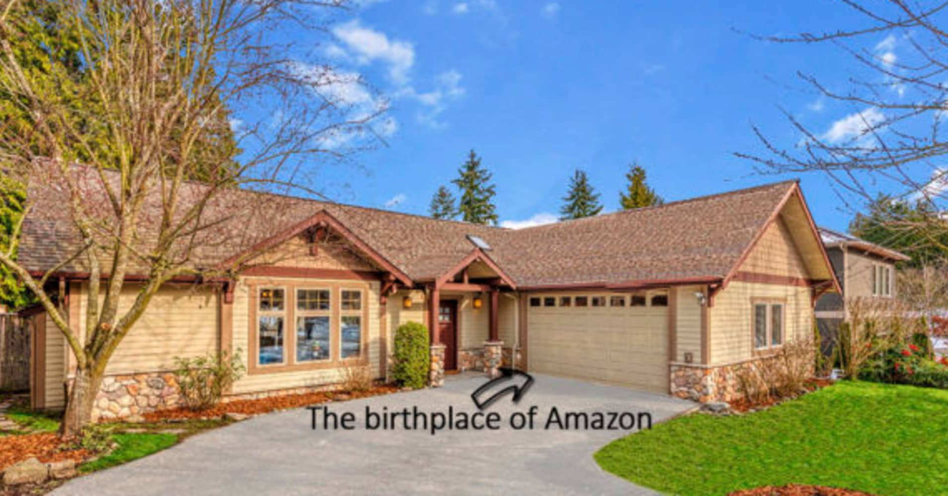The house where Jeff Bezos founded Amazon is on sale for a bargain price