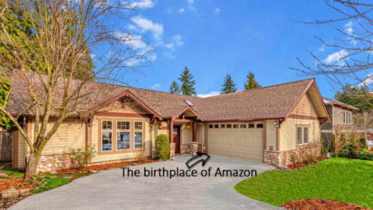 The house where Jeff Bezos founded Amazon is for sale for $1.4 million.
