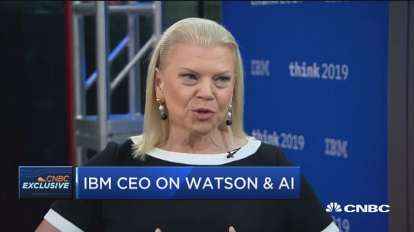 IBM CEO Ginni Rometty: Hybrid cloud is a trillion dollar market and we'll be number one in it