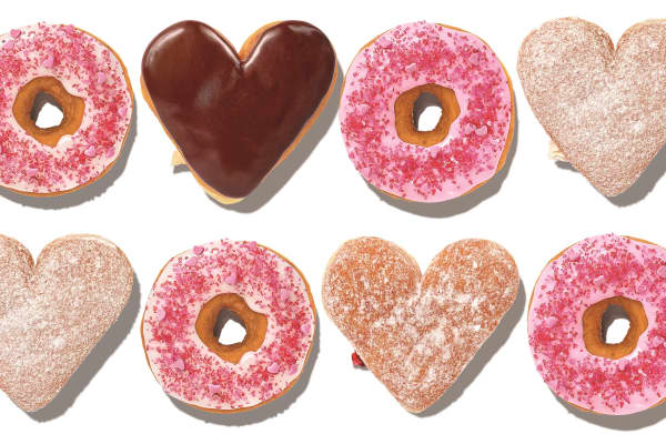 Dunkin's range of donuts for Valentine's Day 2019