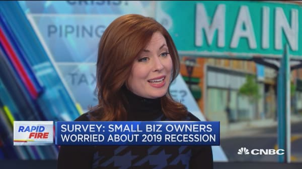 Small business owners worry from risk of recession in 2019