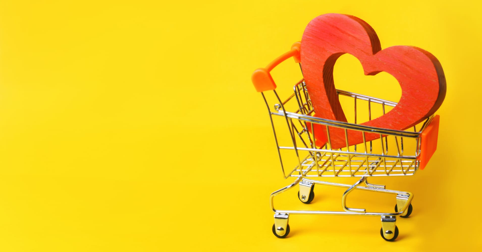 Valentine's Day cart