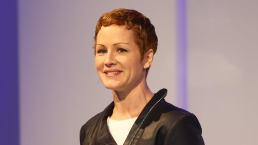 Microsoft executive Julia White at an event in San Francisco in 2014.