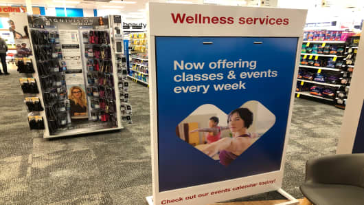 CVS' concept stores offer yoga classes.