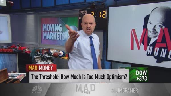Cramer: Charts show steady investor optimism, more upside for stocks