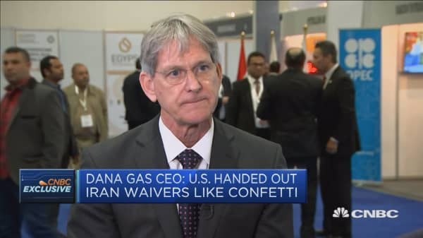 Dana Gas CEO sees oil prices between $60 and $70 in 2019