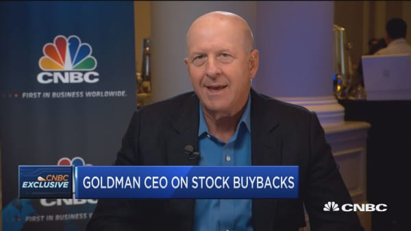 Goldman Sachs CEO: Economic activity in US is chugging along pretty well