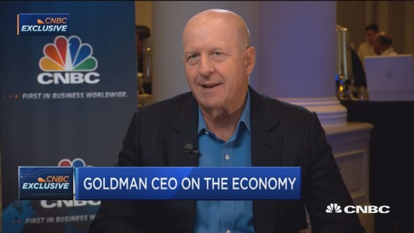 Goldman CEO David Solomon says the economy is in good shape