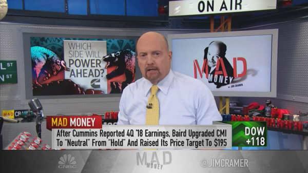 The bulls win out in the bull-bear battle over Cummins, Jim Cramer says