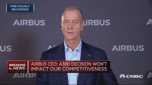 Brexit costs in the double-digit millions and rising, Airbus CEO says