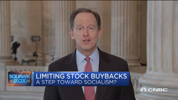 There's no problem to solve with stock buybacks, says GOP Sen. Toomey