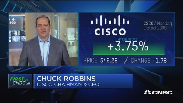 Cisco CEO Chuck Robbins address Morgan Stanley downgrade