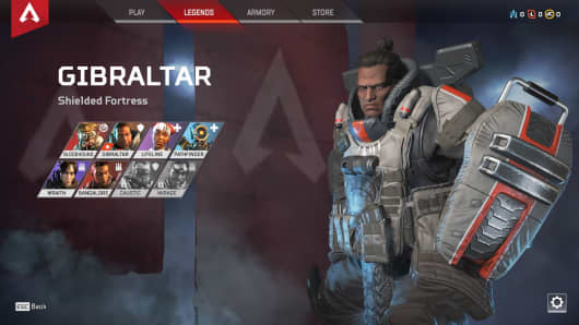 One of several characters to pick from in Apex Legends.