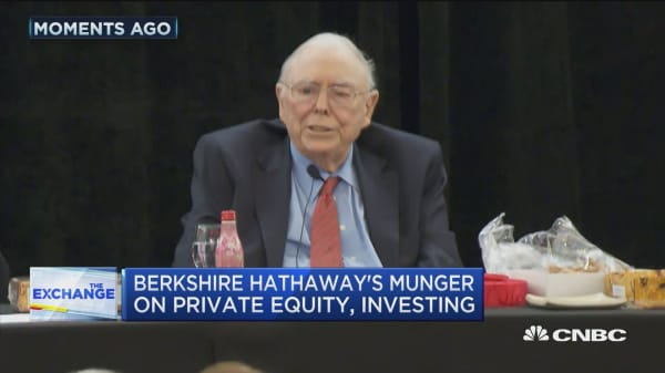 Berkshire Hathaway's Munger on private equity, investing