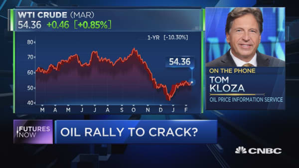 Crude's best start to year ever shows little signs of cracking, oil expert Tom Kloza says