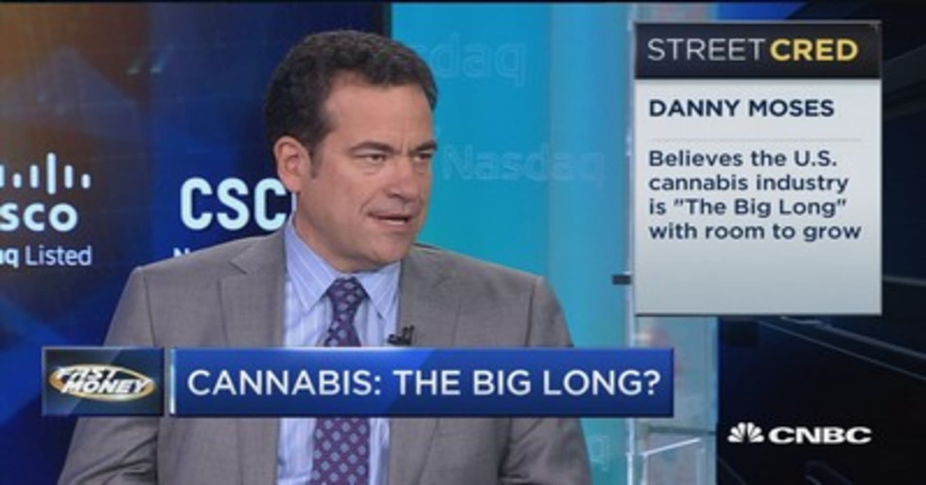The cannabis industry has a number of 'tremendous' tailwinds: 'The Big Short's Danny Moses