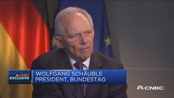 German Finance Minister faces a huge challenge, Bundestag president says