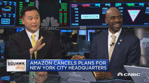 Watch two local New York politicians debate Amazon's decision to cancel its NYC HQ