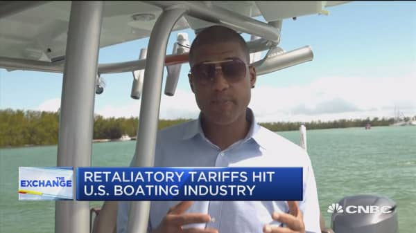 Retaliatory tariffs hit U.S. boating industry