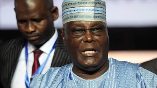 Atiku Abubakar, a former Nigerian vice president, attends a gathering of his party in the Niger Delta city of Port Harcourt, October 6, 2018.
