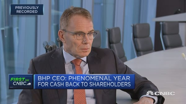 Phenomenal year for cash back to shareholders, BHP CEO says