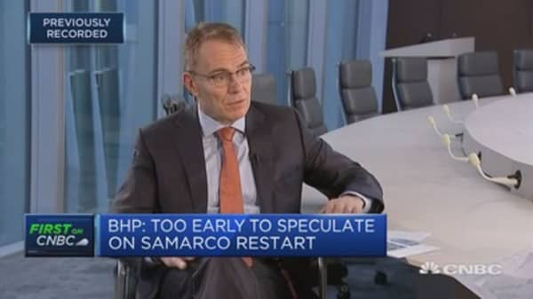 Seeing a little bit of softening in China, BHP CEO says