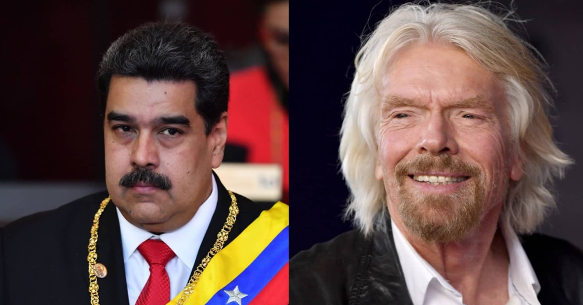 Richard Branson faces competition from Maduro with rival concert on Venezuela's border - CNBC thumbnail
