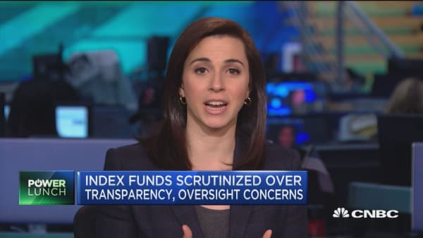 Index funds scrutinized over tranparency, oversight concerns