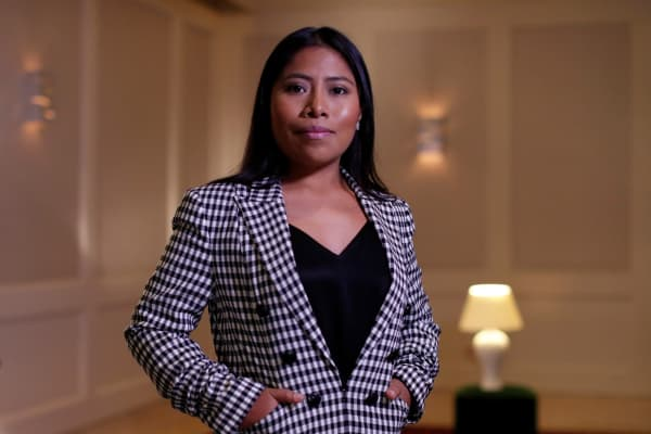 """Mexican actor Yalitza Aparicio, who is nominated for an Oscar for Best Actress for """"Roma,"""" poses for a portrait in West Hollywood, California, U.S., February 15, 2019."""