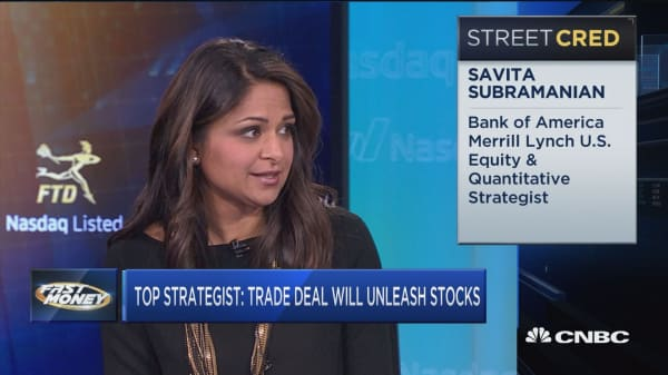 A strong trade deal will unleash rally, says BofA's top strategist