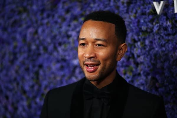 John Legend attends Caruso's Palisades Village opening gala.