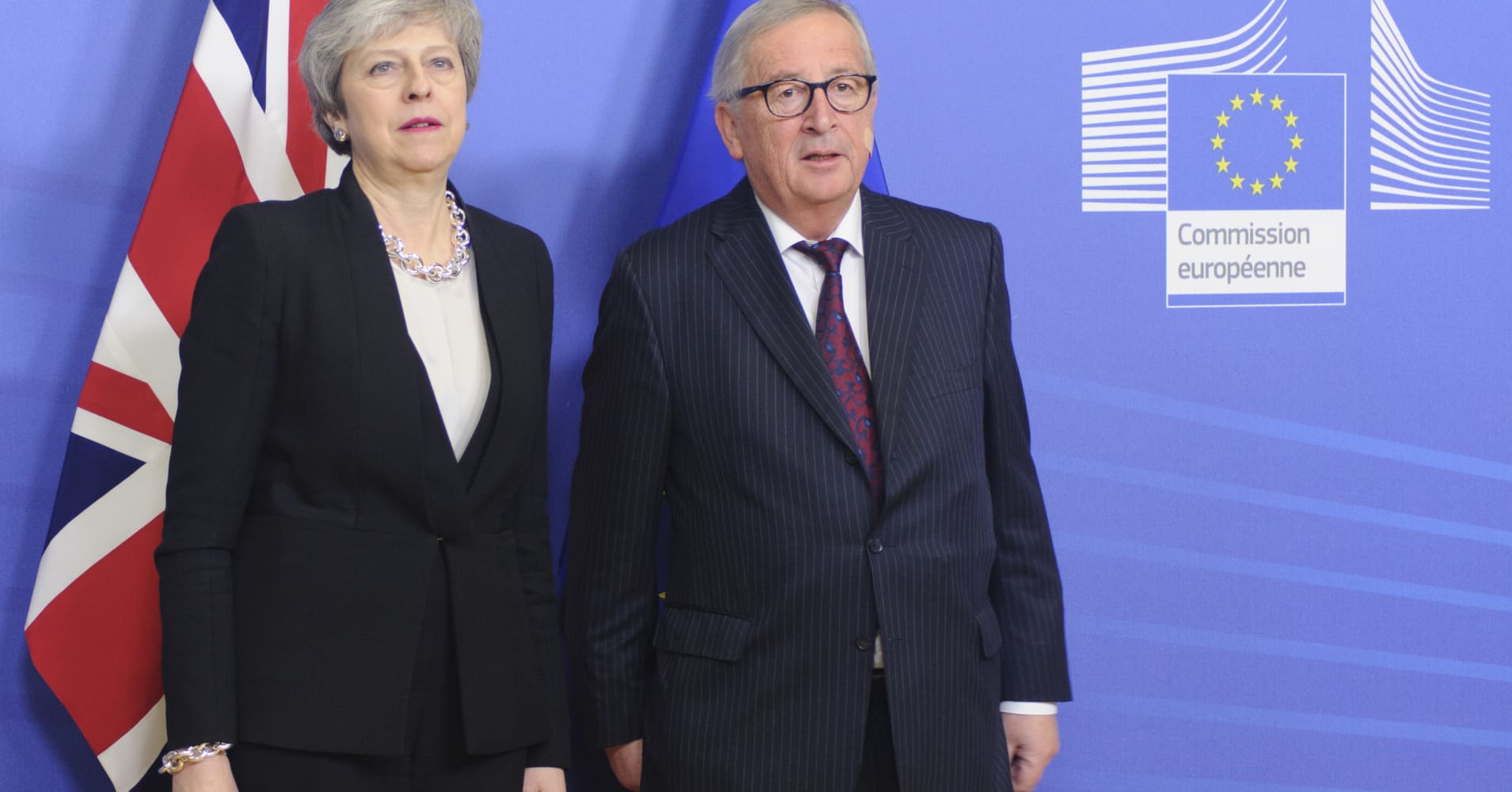 EU's Juncker 'not very optimistic' on Brexit deal after meeting with UK leader May