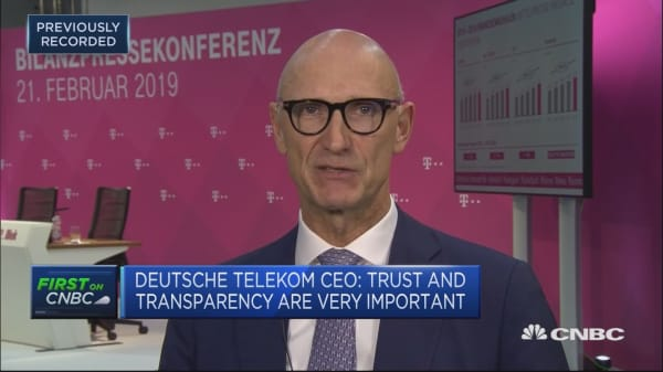 Deutsche Telekom wants to be number one 5G provider in Germany and US, CEO says