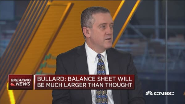 Fed rate hikes are likely 'coming to an end,' says St. Louis Fed President James Bullard