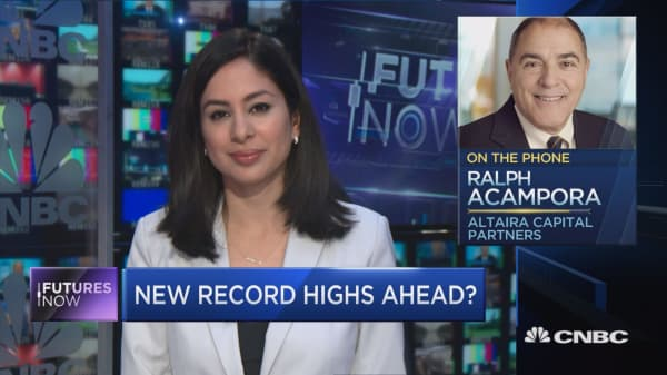 Veteran technician Ralph Acampora says new highs could be ahead for the market